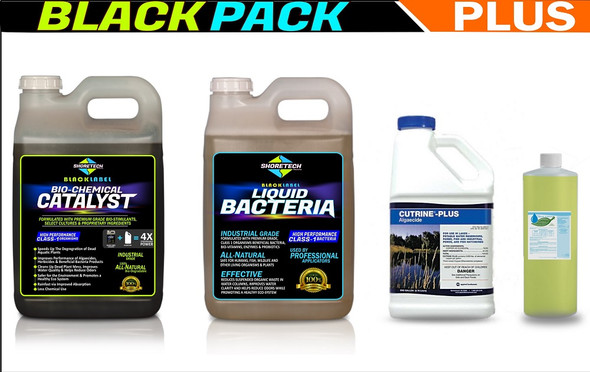 Algaecide All natural beneficial bacteria liquid muck digester pellets package for pond lake algae and muck removal