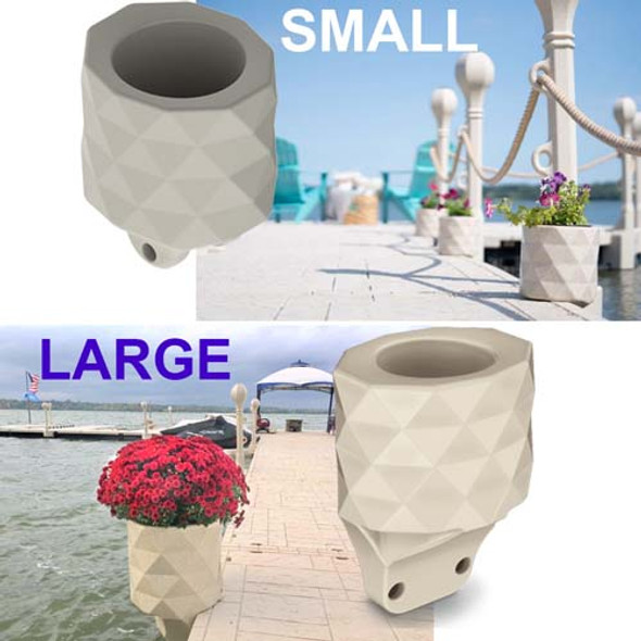 wave armor floating dock flower pot planter