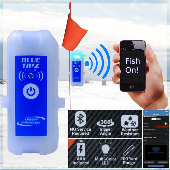 Blue Tipz | Tip Up Alert Wireless Transmitter Smartphone Notifications
