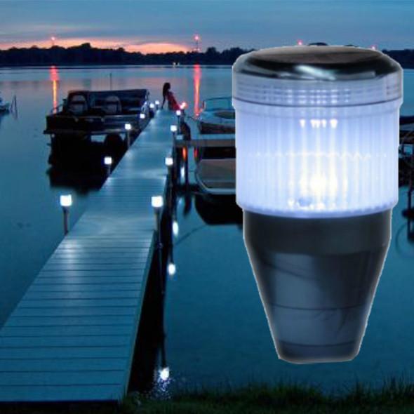 Solar Lake dock pole lights