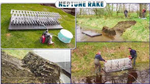 Neptune Rake   Aquatic Weed Harvester & Muck Dredge