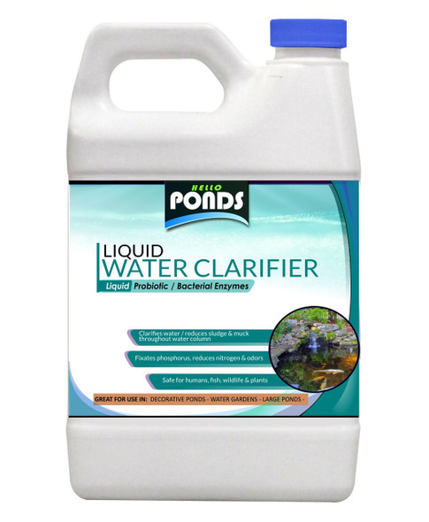 Pond Water Clarifier - Liquid Bacteria for small Ponds, Water Gardens & Koi Ponds