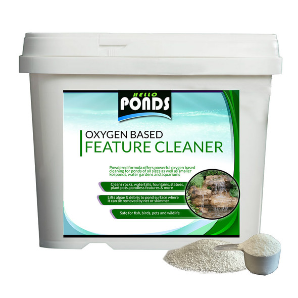 Oxygen Based Pond Rock & Feature Algae Remover cleaner powder