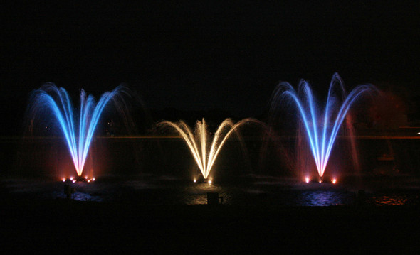 Lit Fountains