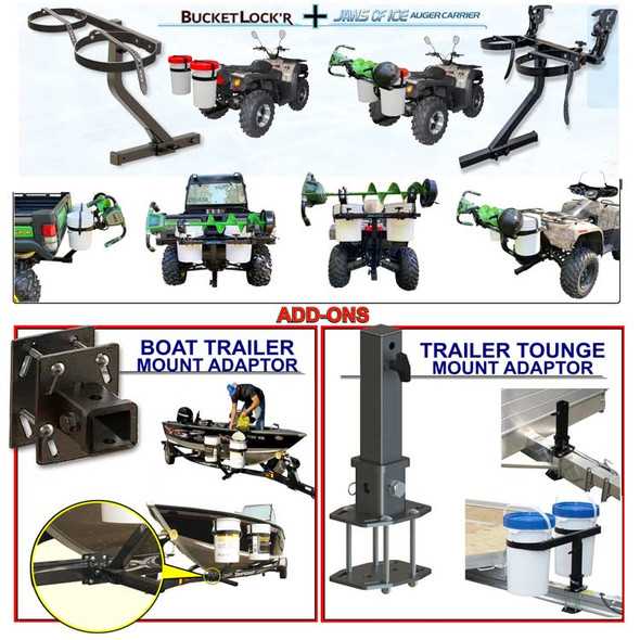Modular Bucket Carrier System Hitch Mount & Trailer Adaptors