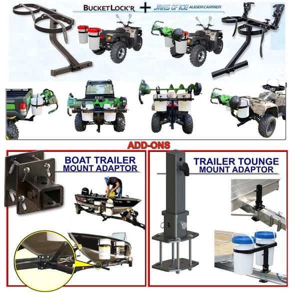 Modular Bucket Carrier System Hitch Mount & Trailer Adaptors