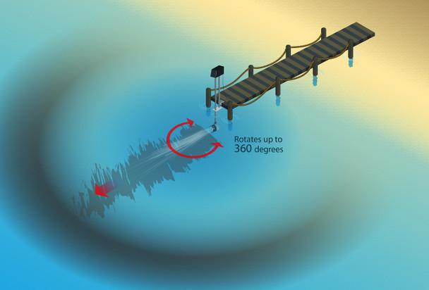 Aqua Thruster 360 Oscillator Attachment | Sweep your Lake Front