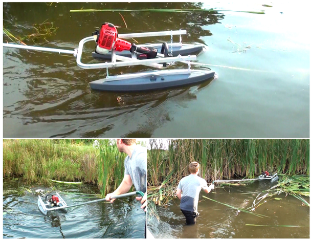 AVG aquatic vegetation cattail lily pad reed cutter mower