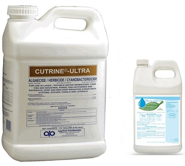 1 Gallon of Cutrine Plus and 1 Quart of our AB Adjuvant.