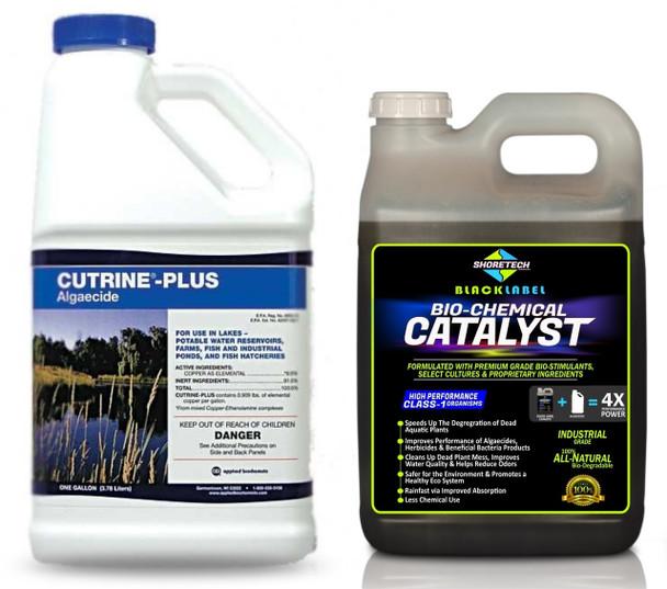 copper algaecide cutrine plus adjuvant booster catalyst