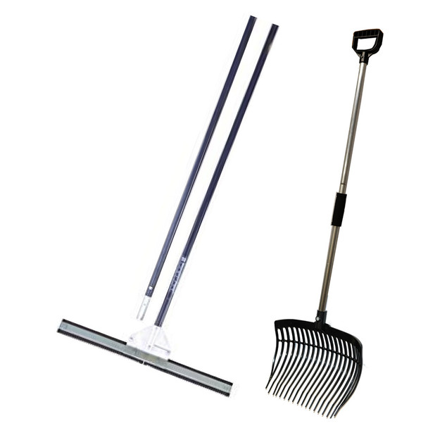 Serrated Edge Lake Weed Cutter and Pitch Fork Kit