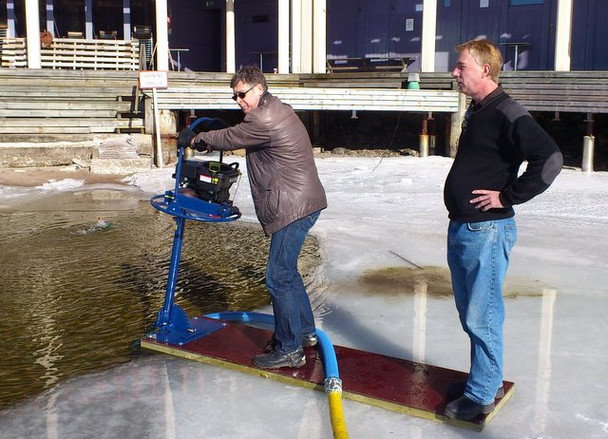 Lake & pond muck control, Suction dredging machines