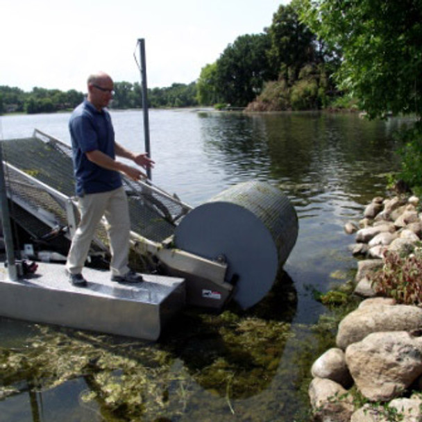 Eco-Harvester Lake Weed Processing System