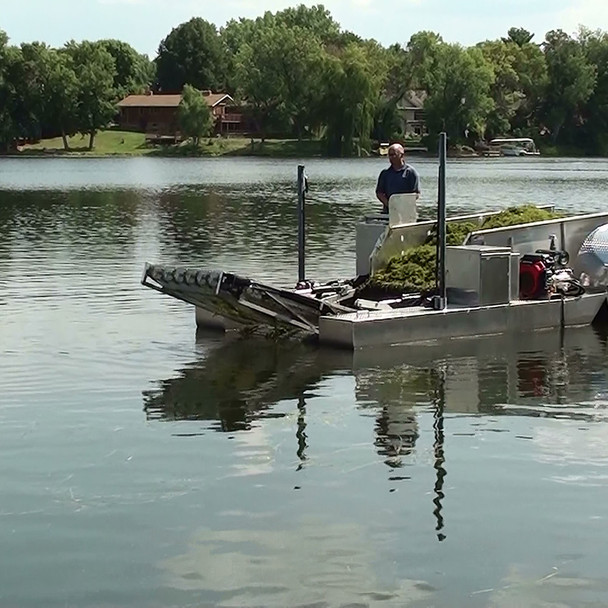 Eco-Harvester Lake Weed Processing