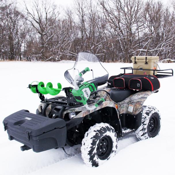 Ice Auger Mount For Polaris Ranger UTV   Jaws Of Ice Auger Rack