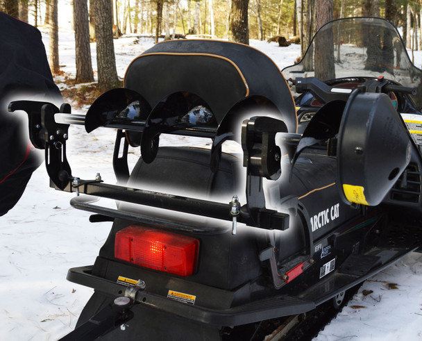 Snowmobile Ice Auger Carrier Mount | Jaws of Ice Auger Holder