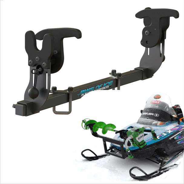 Ice Auger Carrier Mount Holder for Snowmobile bumper