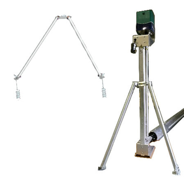 Remote assembly tripod mount lake groomer weed roller