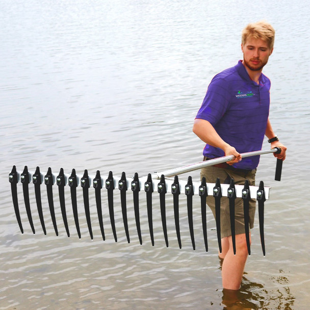 Lake Weed Rake Skimmer Fork Collector with long tines