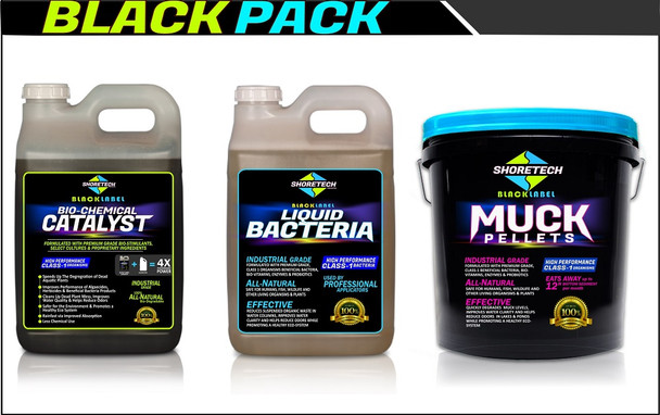 Catalyst Algae Breakdown Booster with Liquid Beneficial Pond bacteria and muck digester pellets for lakes and pond