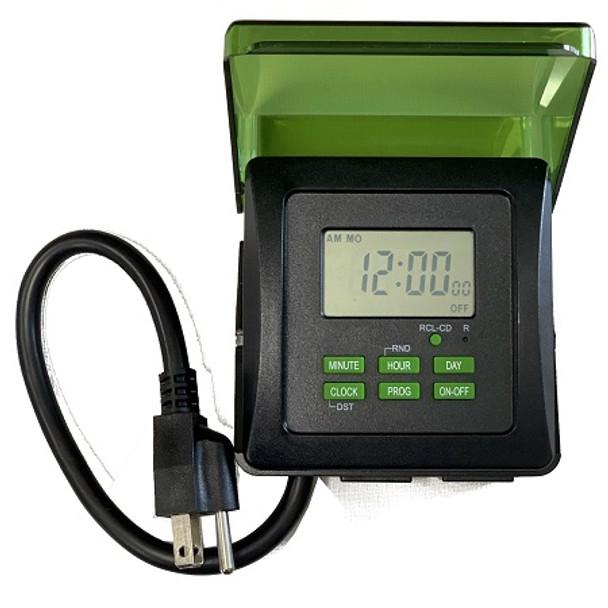 7-Day Dual Outlet Heavy Duty Digital Outdoor Waterproof Timer