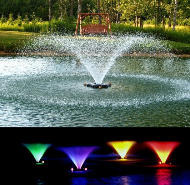 Kasco VFX fountains with lights