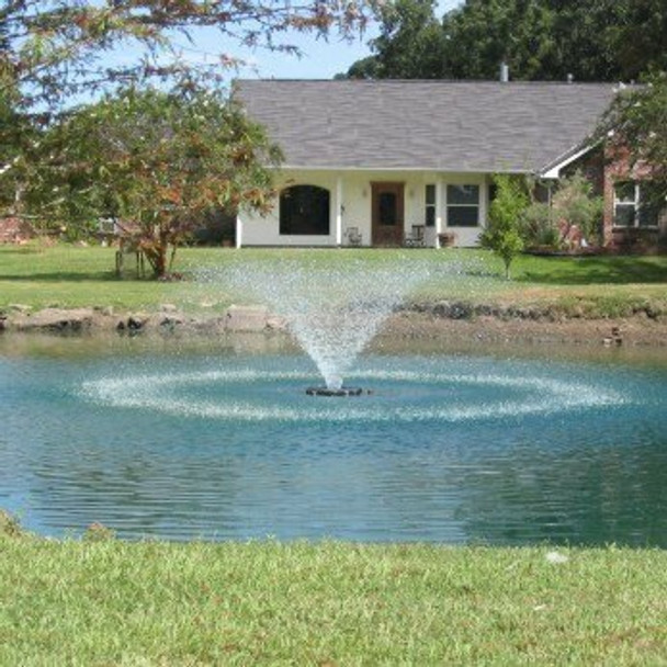 Lighted Fountains   Kasco VFX Floating Lake & Pond Aerating  Fountains with LED Lights