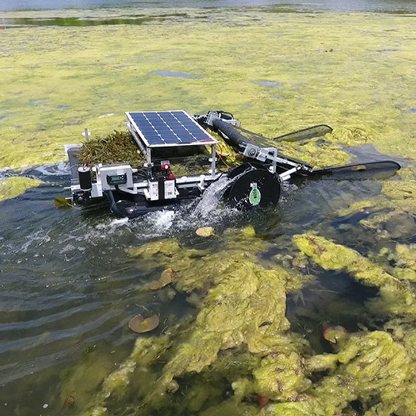 WaterBug Aquatic Weed Harvester | Remote Controlled Solar & Battery Powered
