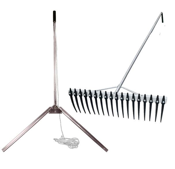 Lake Weed Cutter and Rake kit for cutting raking and collecting underwater weeds