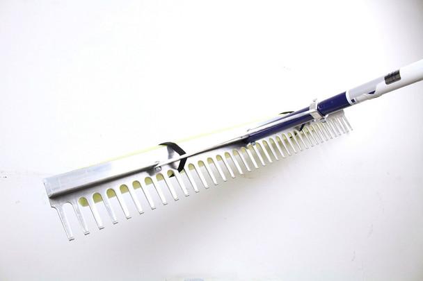 huge rake for seaweed beach landscaping, long handle