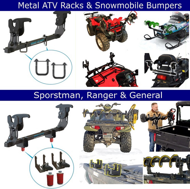 Jaws of ice auger carrier mount for ATV UTV POLARIS HONDA  suzuki yamaha 4x4 fourwheeler