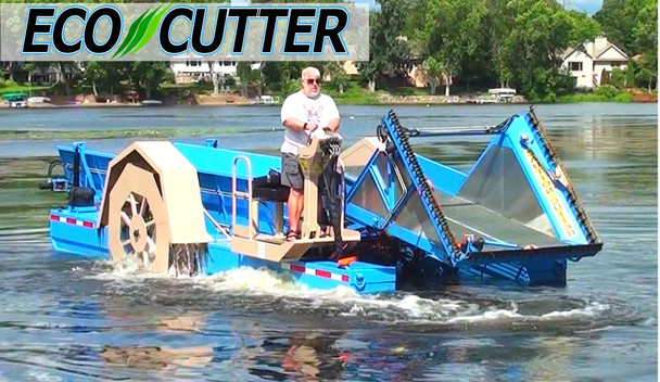 Aquatic Lake Weed Harvester Cutter Puller Skimmer Collector Boat Machine Eco Cutter