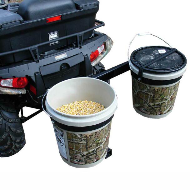 Bucket Lock'r  pail holder hitch mounted UTV