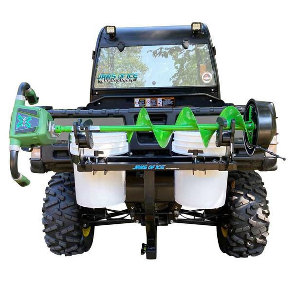 Bucket Holder hitch mount and Ice Auger Carrier holder  ATV  UTV