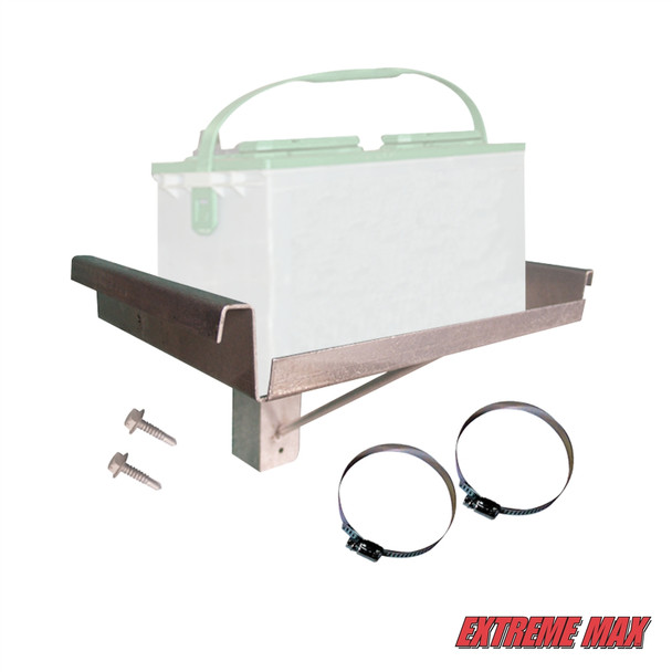 Post-Mount Single Battery Tray for Boat Lift
