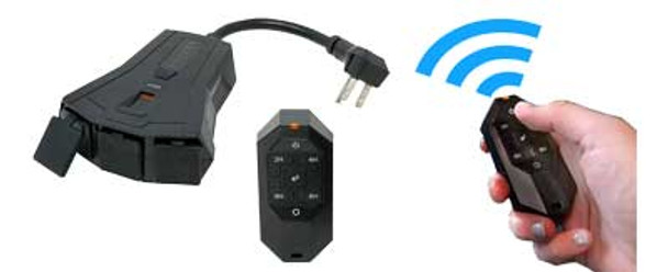 3-Outlet Timer with Wireless Remote