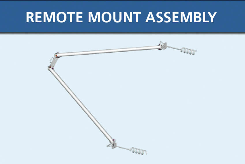 Lake Groomer Remote Mount Assembly