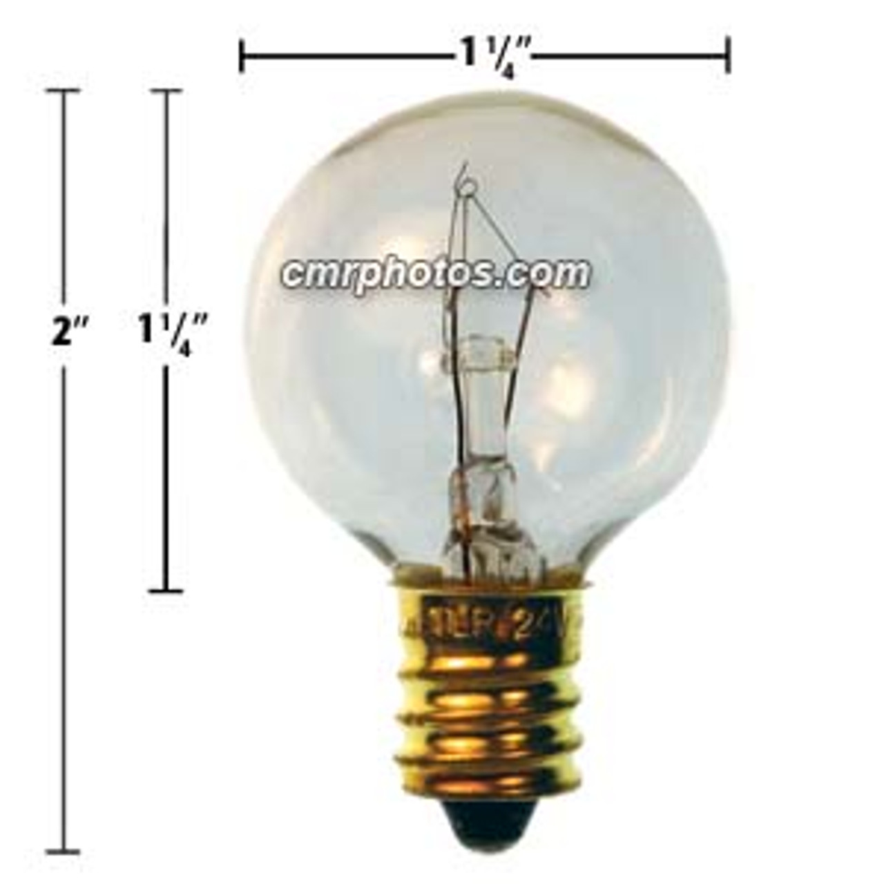 NEW BOX of 25 OUTDOOR C7 Orange AMBER CHRISTMAS 5w LIGHT bulb 130V brass 5 watt