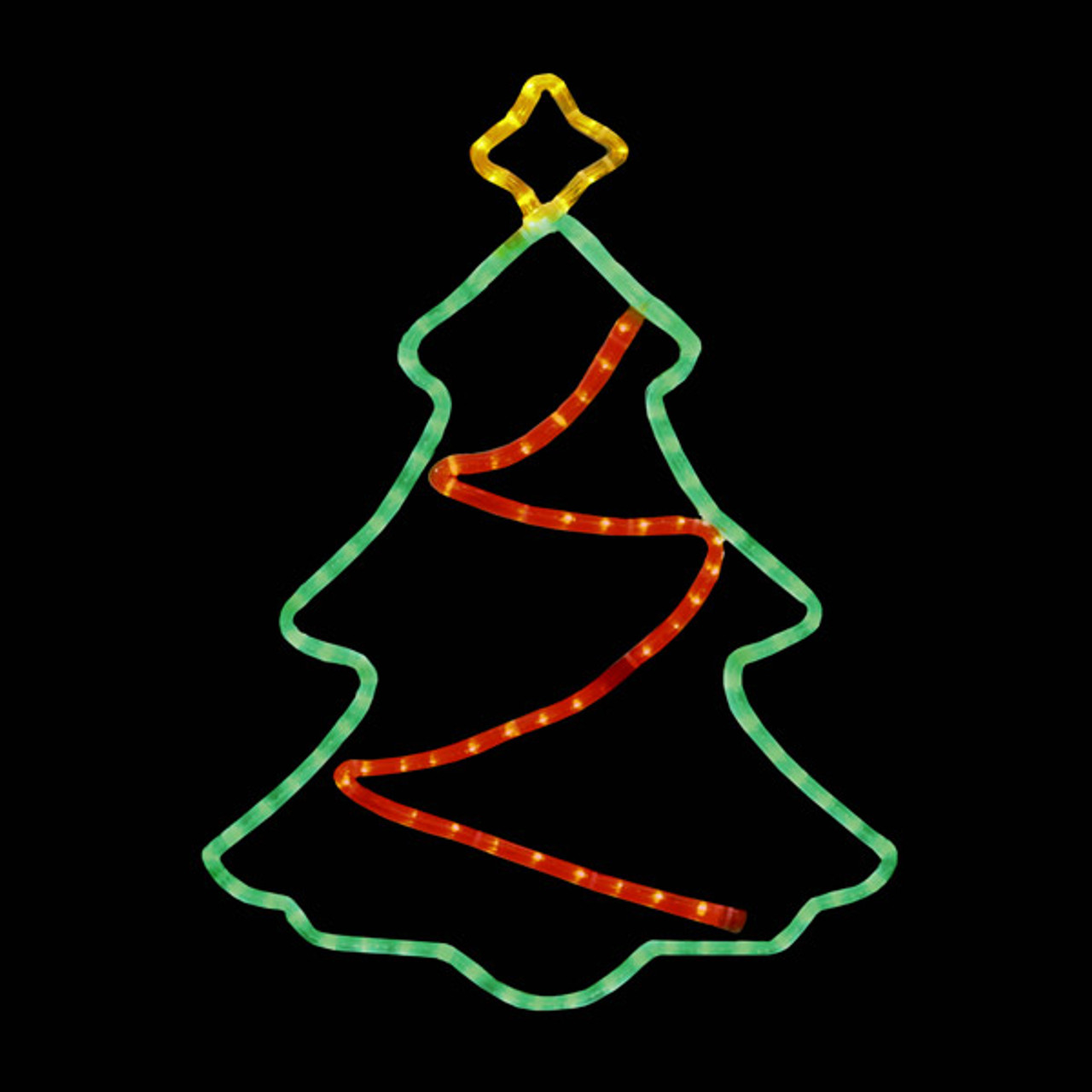 Led Tree Window Motif With Twinkle Star Garland 100moltree