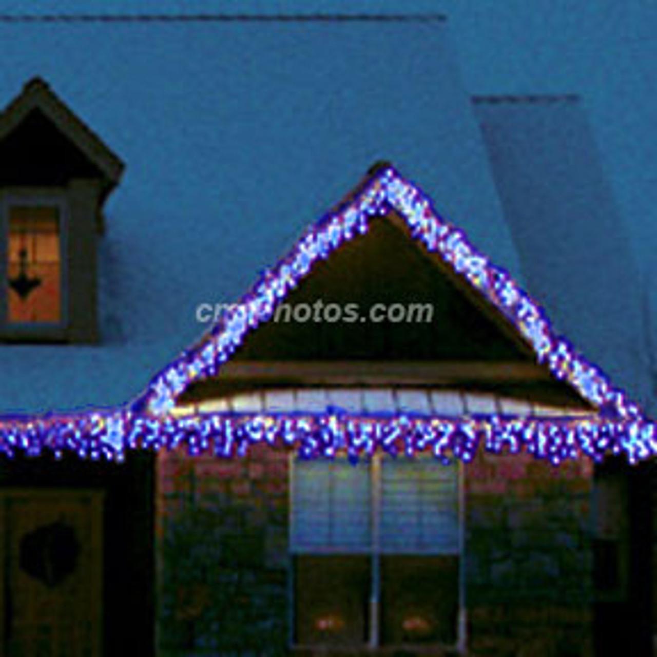 Blue Led M5 Christimas Icicle Light Set 100ledm5ice Wb