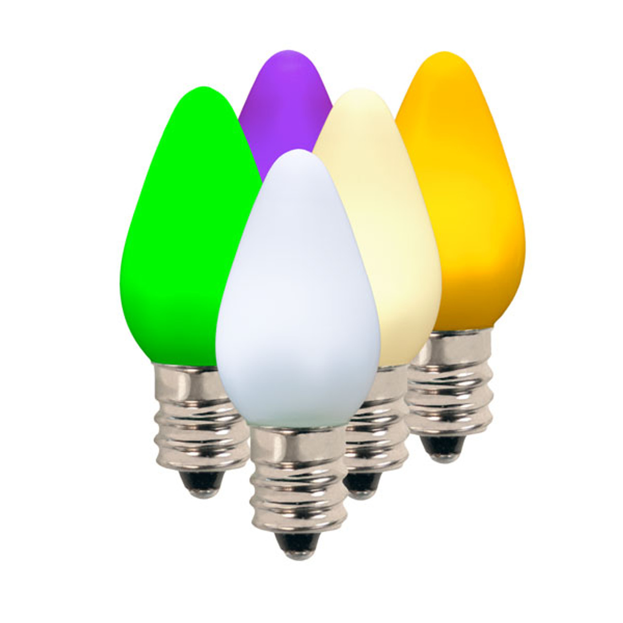 C7 Led Bulb >> C7 Commercial Led Smooth Frosted Retrofit Christmas Bulb