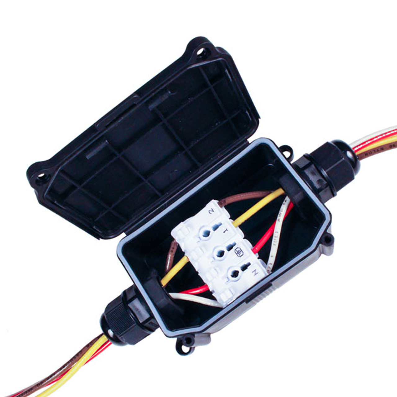 Indoor  Outdoor 4 Wire Junction Box With Connector