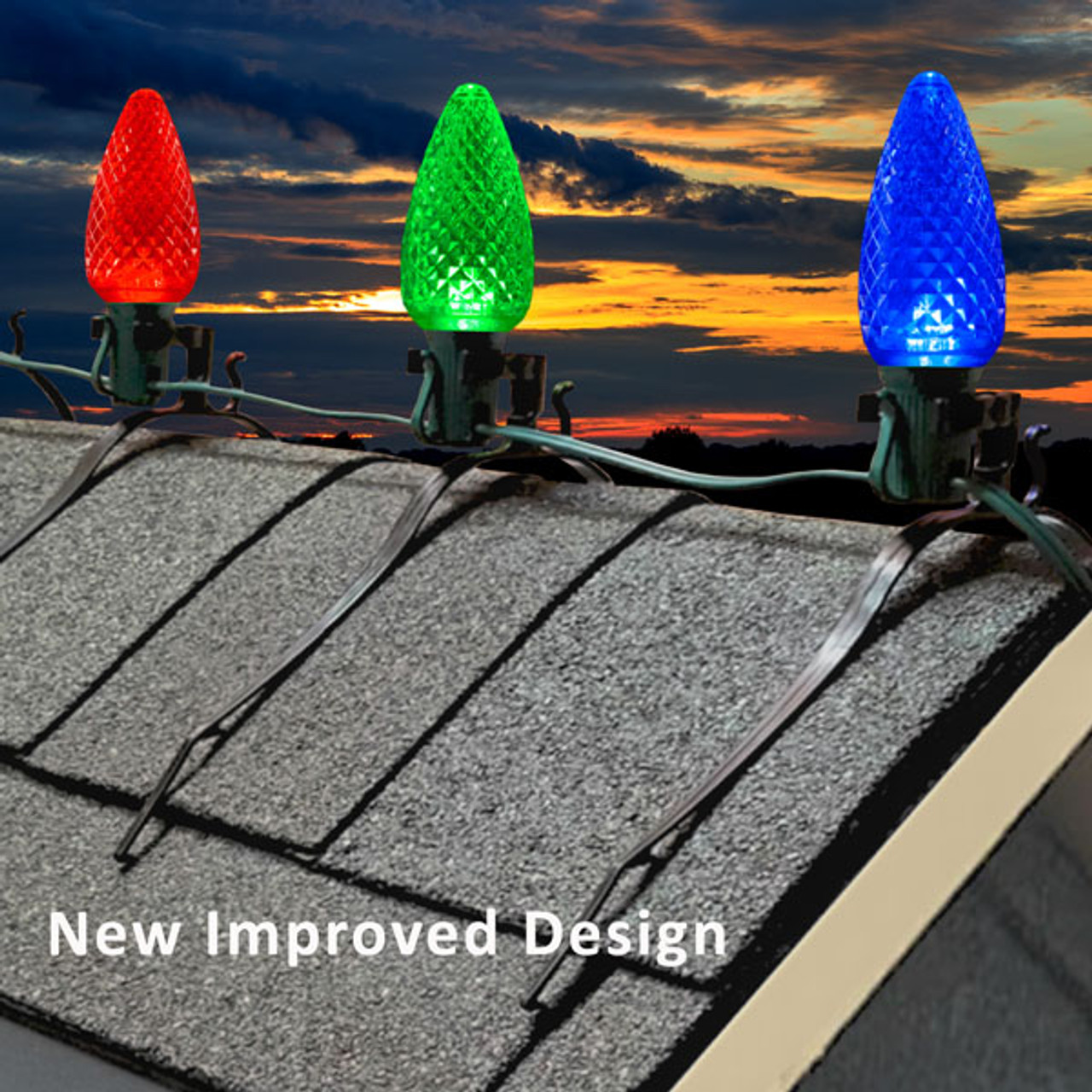 Clip Roof Top Ridge Line Mounting Clip For C7 C9 Bulbs And Rope Light 5pc Bag