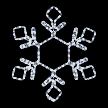 brand new 1d613 99d0c Lighted Snowflake Displays - Large, Rope Light Snowflakes ...