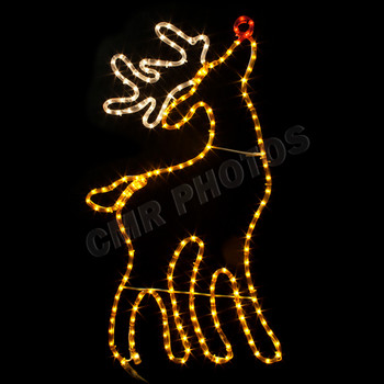 RUDOLPH THE RED-NOSED REINDEER ROPE LIGHT MOTIF SILHOUETTE DISPLAY -  100MODEER 8da11afdb