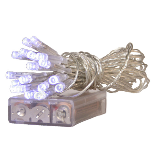 COOL WHITE LED BATTERY POWERED MINI LIGHT SET - 102LEDBL/W