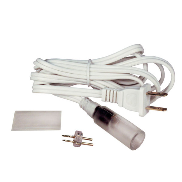 """CROWN ROPE LIGHT 2 WIRE 1/2"""" 2' STEADY BURN POWER CORD (5/BAG) - Pack/5"""