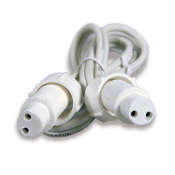 "SOLD OUT SEE 206SB-6FF---CROWN ROPE LIGHT 2 WIRE 1/2"" 2 FT EXTENSION FEMALE TO FEMALE(5/BAG) - BAG"
