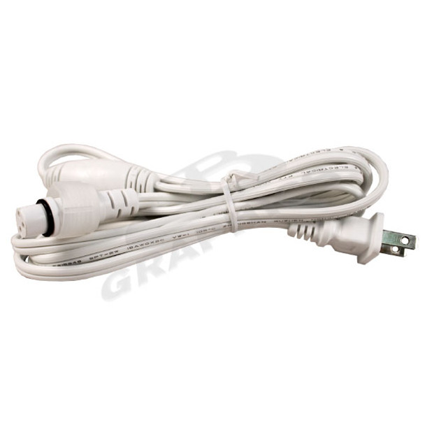 70 LED MINI LIGHT POWER CORD WHITE WIRE - Each