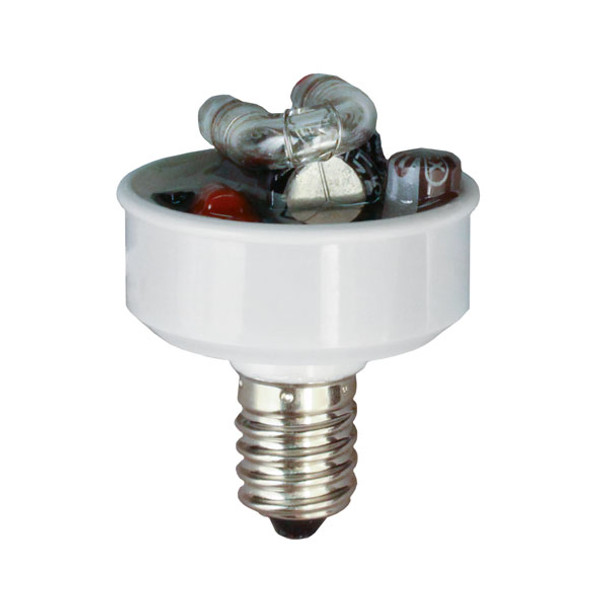 E14 Base 240 volt Strobe Insert for Carnival Turbo Fixtures